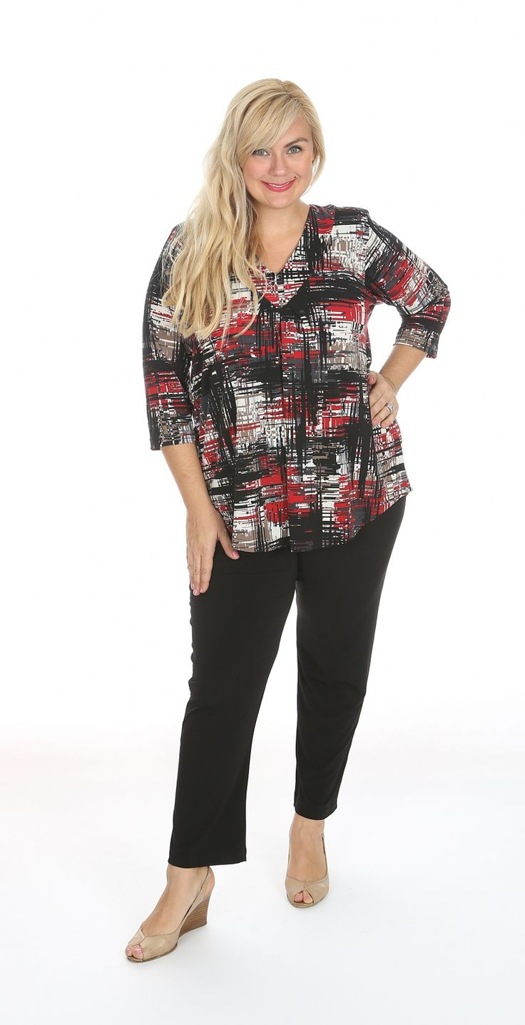Red digital print v neck top: Our Lagos v-neck top in a new season red digital print.  The v-neck top has a gathered front making it comfortable to wear and tummy flattering. Fabric: Polyester Spandex Label: Lagos