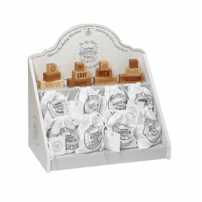 Wooden Story On My Mind Gift Set -  This is a three-piece wooden block set that offers a thought-provoking gift.The blocks come in a cotton branded bag. Made of selected wood that comes from FSC certified suppliers. Finished with beeswax and botanical oils, sanded perfectly smooth, soft to the touch. Free of harmful chemicals. Made in the Beskidy Mountains,Poland