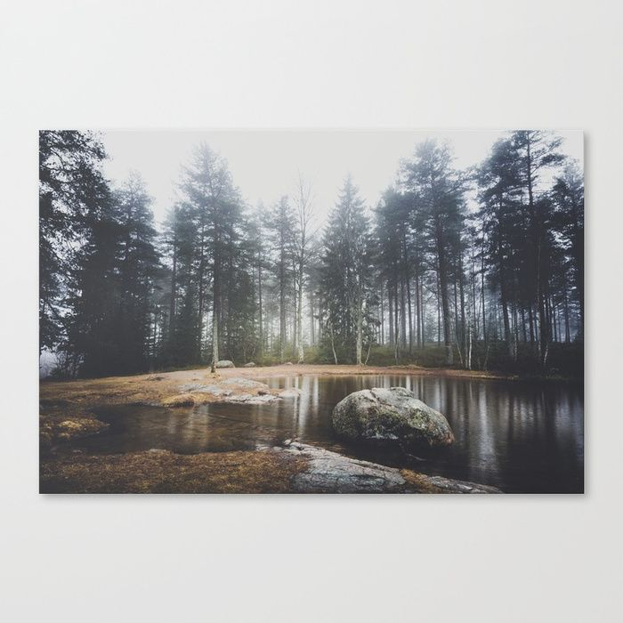 Moody mornings Canvas Print by HappyMelvin. #nature #wanderlust #landscape #forest #wallart #canvas