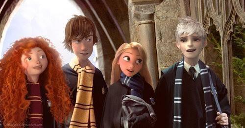 Дисней (Храбрая сердцем, Как приручить дракона, Рапунцель и Хранители снов) и Гарри Поттер