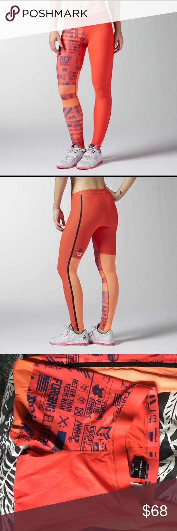 Brand New Reebok Crossfit PWR6 Compression Tight Engineered compression hugs muscles and induces blood flow while bonded seams prevent chafing. Polyester / elastane graduated compression fabric for lasting stability. Compression fit for  muscle support and vibration control. Speedwick tech keeps skin dry and comfortable. Mesh panels at the back of the knee for ventilation and moisture control. Antimicrobial treatment for odour control and a gusset for added comfort. Bonded seams and leg…