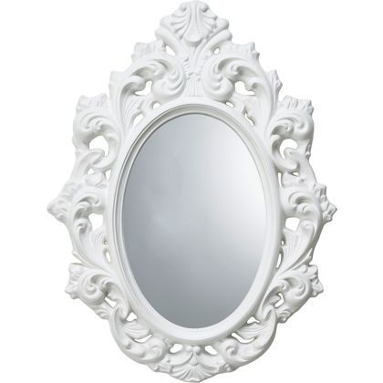 Home of Style Rococco Oval Mirror - White at Homebase -- Be inspired and make your house a home. Buy now. 49.99