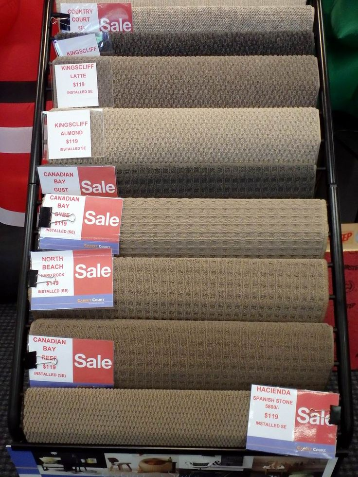 Stock 2 carpets, ready to go in the store.