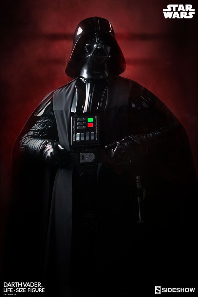 Sideshow Collectibles' Lifesize Darth Vader figure is the ultimate collectible. Comes complete with an authentic costume.