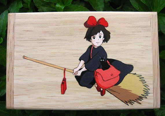 Delivery Service mano vernice legno Box Studio Ghibli di Kiki