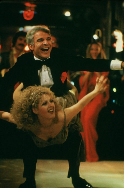 """The Jerk (1979) Steve Martin, Bernadette Peters, Catlin Adams -  Director: Carl Reiner Navin isn't too bright.  He leaves his adopted family to go to St Louis.  Mother: """"Navin, I'd love you if you were the color of a baboon's ass."""""""