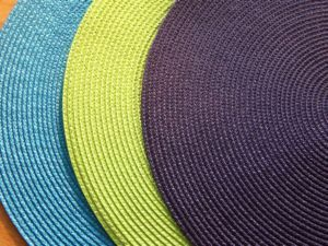 Kiwi Lime Green 15 Inch Round Rattan Placemat, Set of 4