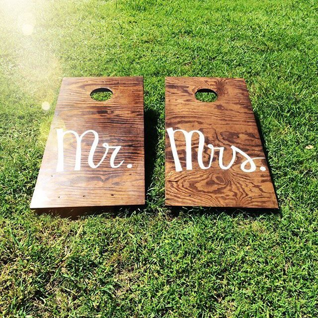 Wedding gift or reception idea.  Personalized game.  The Wedding Knot DFW