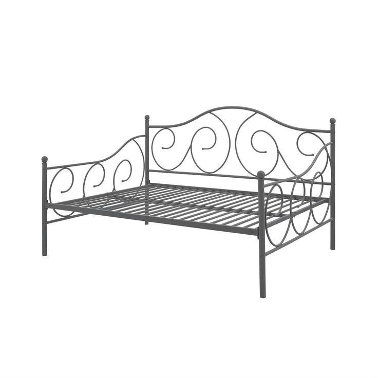 Full Size Metal Daybed Frame Contemporary Design Day Bed In Bronze Finish $324.99  #furniture #homedecor #homefurnishings #furnishings #home #decor