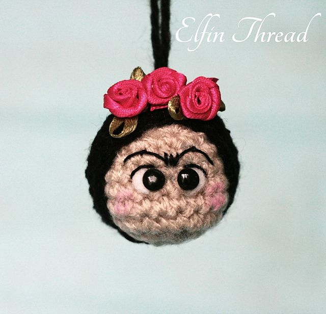 Ravelry: Frida Kahlo Keychain pattern by Elfin Thread