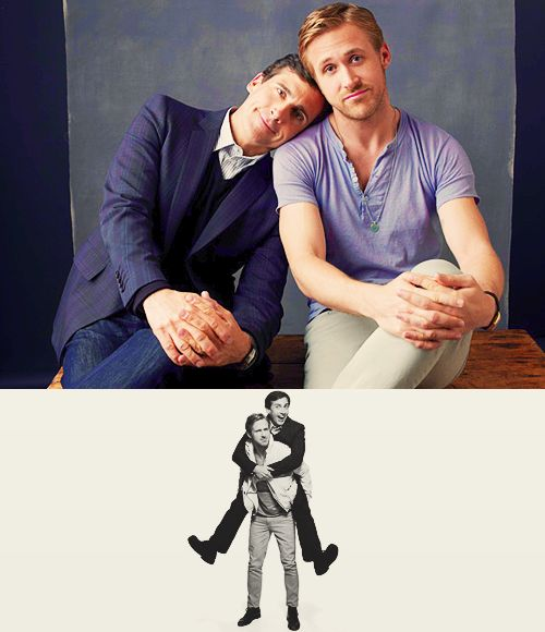 two of my favorites. ryan gosling & steve carell. ryan because he is the love of my life and steve because he is hilarious.