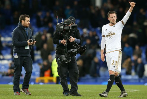 Swansea City recorded an important win at Everton.