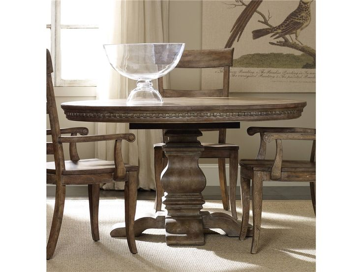 Furniture Sorella Pedestal Dining Table W 1 20 Leaf 5107 75203