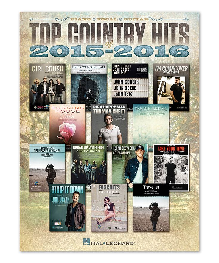 Top Country Hits of 2015-16 Sheet Music for Piano Vocal & Guitar