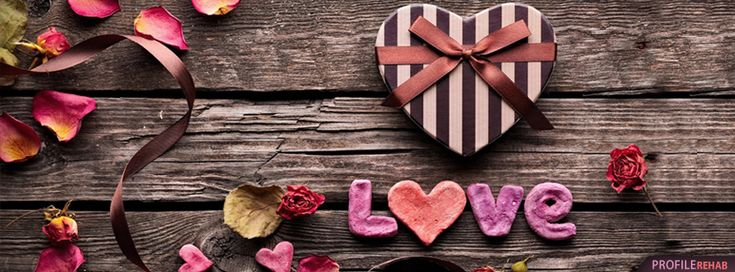 Brown and Red Love Facebook Cover - Facebook Cover Download