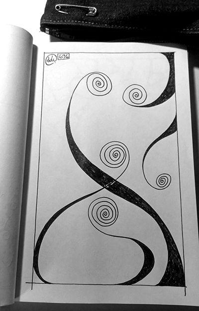 Katerina Pappou: spines | day696