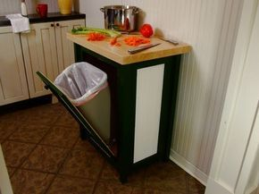 Trash Bin with foldout door - eclectic - kitchen trash cans - birmingham - by Chris Hill