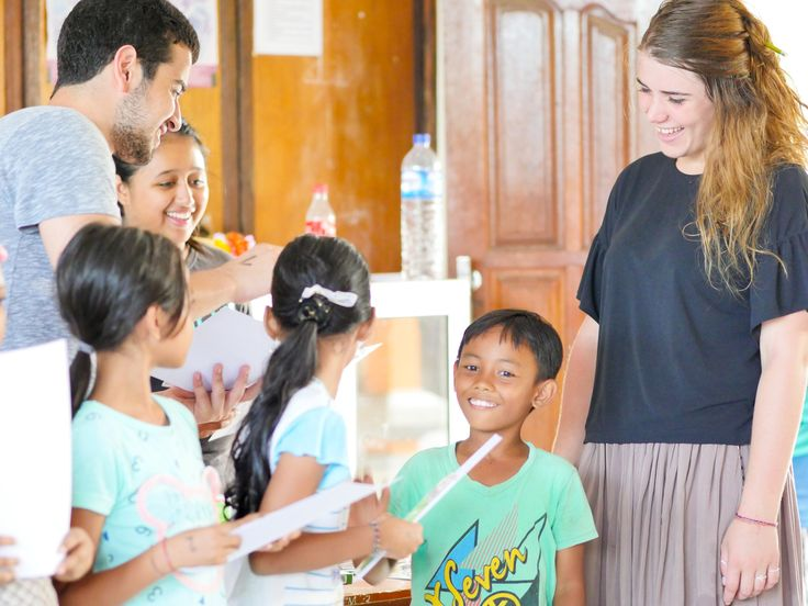 Our volunteers handing out the student of the month awards to our amazing students. #vpbali #inspire #educationforall