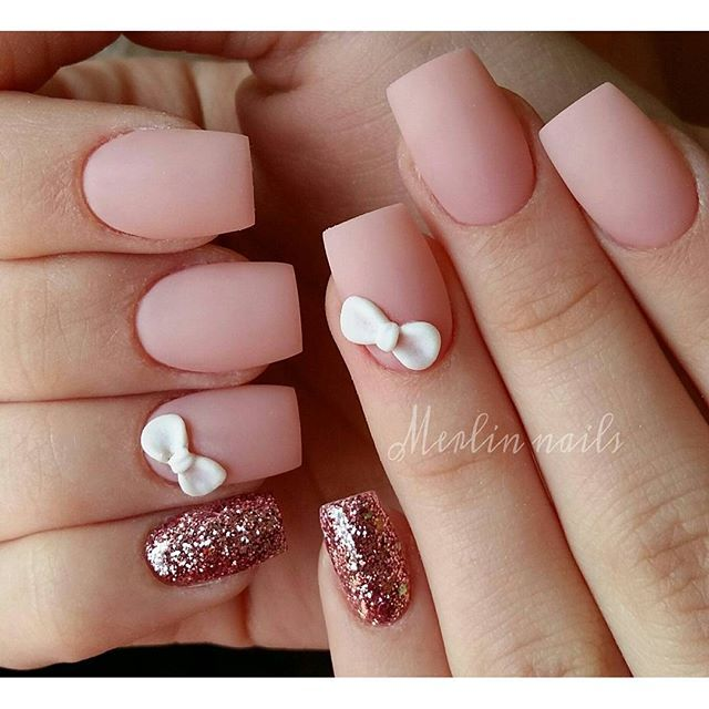 Instagram media merlin_nails - 3d design & matt  #crystalnails #gel…