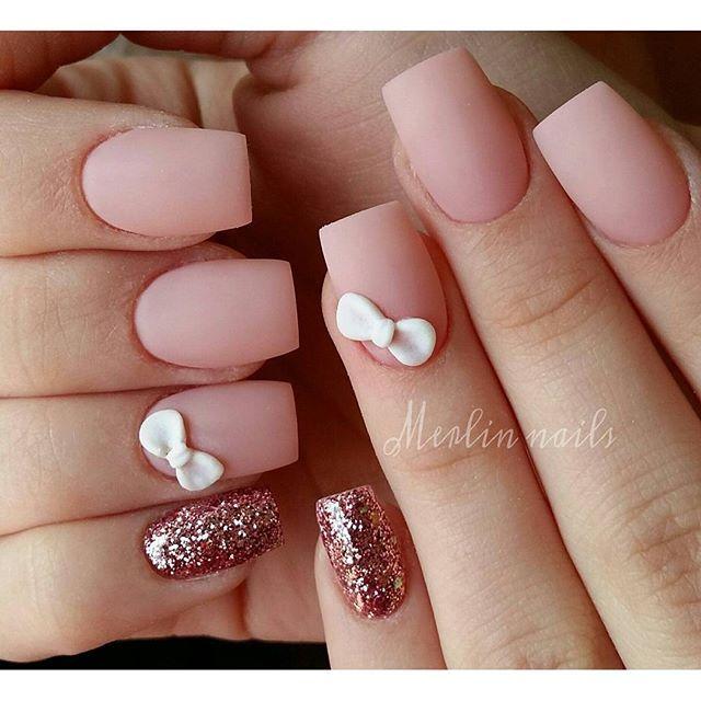 Instagram media merlin_nails - 3d design & matt  #crystalnails #gel…