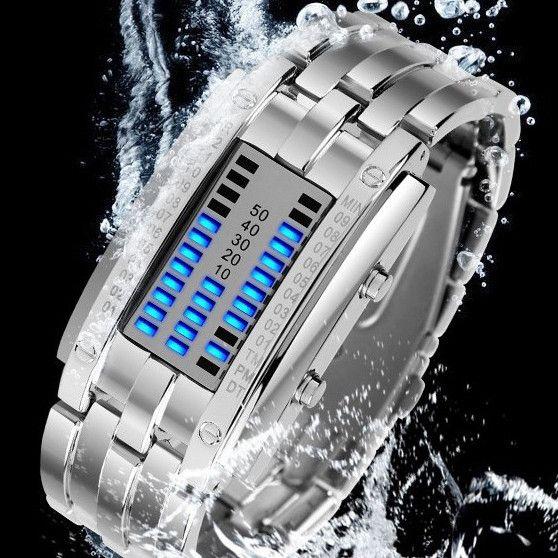 Unisex Black Dial Metal Band Quartz Analog Water Resistant Sport Wrist Watch Led Watch Fashion Watch Dress Watch @buycoolprice