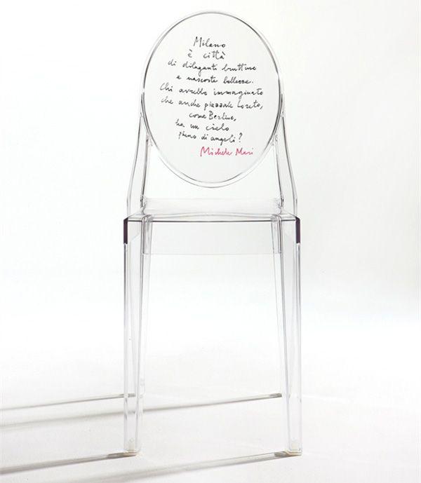 Michele mari omaggio a wenders sedia in policarbonato - Sedia ghost philippe starck ...