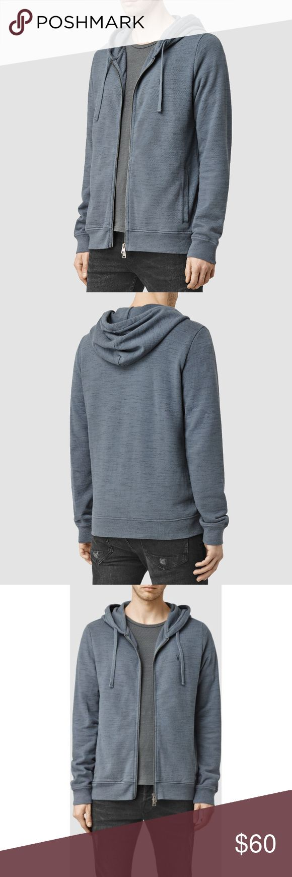 """AllSaints Ravage Blue ZIP SWEATSHIRT HOODY xs m For Sale is a stunning All Saints Deep ocean Blue """"Ravage """" Hoody / Zip Sweatshirt  Brand New with Tags  Chest Logo Detailing  Great comfy hoody at a knockdown price!  100% Authentic  Model: WILDE HOODY  Color:Deep ocean blue  Can be dressed up or down.  A great stylish hoody that's massively comfortable. All Saints Shirts Sweatshirts & Hoodies"""