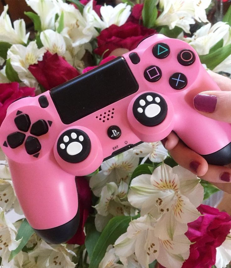 girl gamer pink ps4 controller: I hope you have a fun and stress free weekend –  – #GamerRoom|DIY