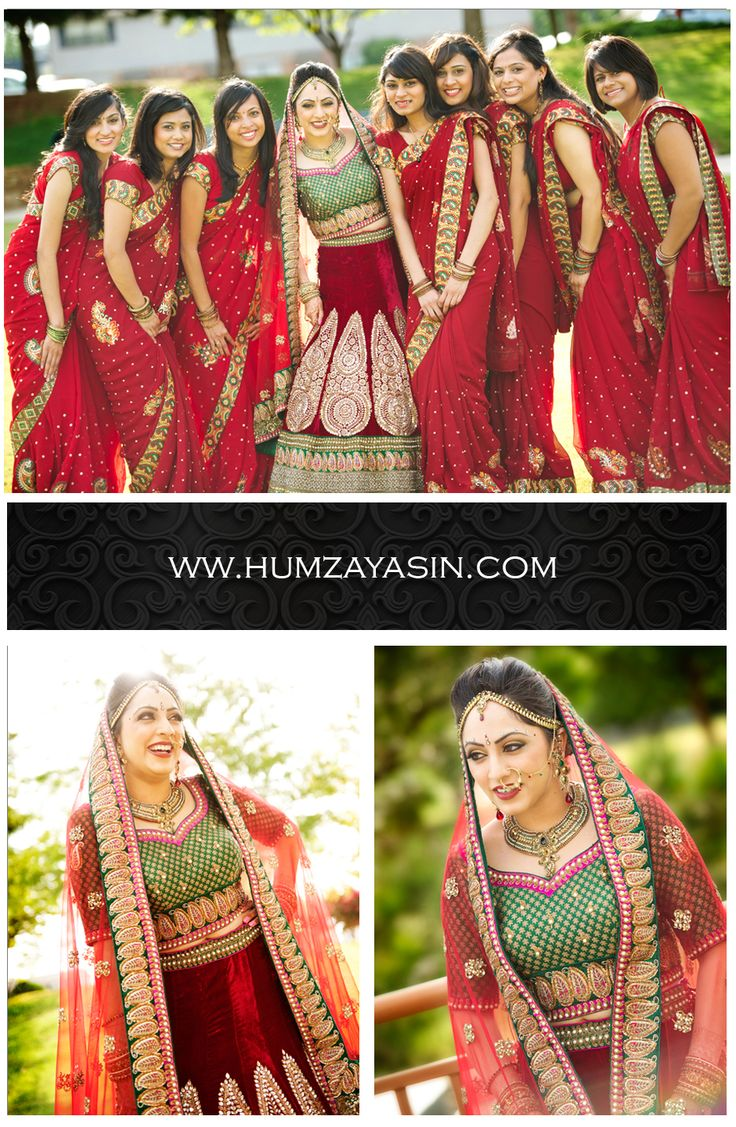 Indian Bridal Portraits and Bridal Party Shot in Oklahoma, OK