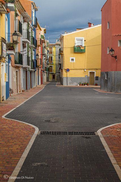 Streets of Villajoyosa, Costa Blanca, Spain