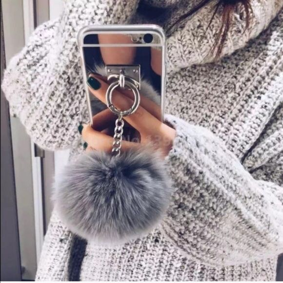 Power Puff Ball Mirrored Cell case. Power Puff Ball Mirrored Cell case. Available w/ Black Puff OR Grey Puff for iPhone 6/6S OR iPhone 6/6S Plus! No Trades.                                                                If u would like to purchase this item, please let me know in the comments section and i will create a listing especially for you! Happy Shopping!  Accessories Phone Cases