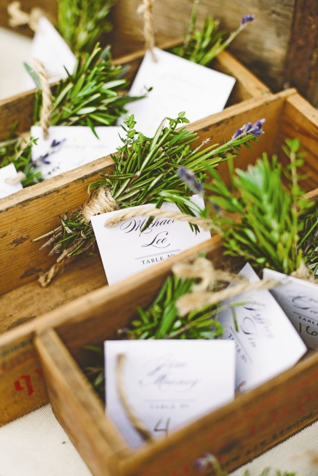 Oh So Beautiful Paper: Wedding Stationery Inspiration: Nature-Inspired Escort Cards