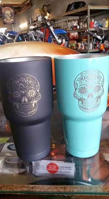 I have a yeti..I just need a sugar skull on it ..I live in angleton anybody know where I can get it done at