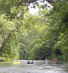 Photo of the Current River in the Ozarks on Wikipedia's article of the Ozarks http://en.wikipedia.org/wiki/The_Ozarks