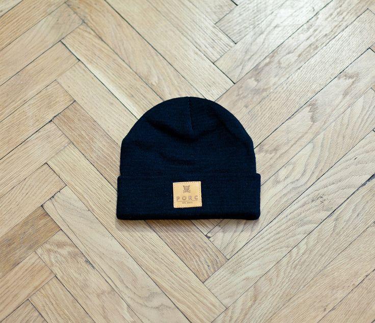 """Logo"" Leather Hat Black"