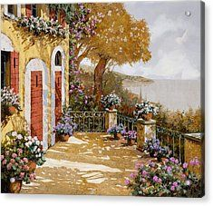 Altre Porte Rosse Acrylic Print by Guido Borelli