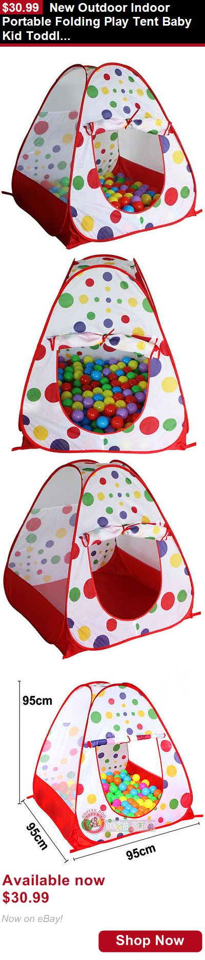 Baby play shades and tents: New Outdoor Indoor Portable Folding Play Tent Baby Kid Toddler Play House Fun BUY IT NOW ONLY: $30.99