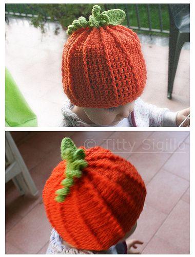 baby pumpkin hat - Ravelry: http://ravel.me/tittiesse/phh