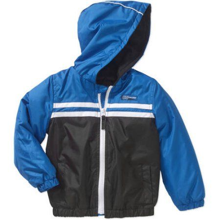 iXtreme Baby Toddler Boys' Lightweight Fleece-Lined Colorblock Jacket, Toddler Boy's, Size: 25 Months, Blue