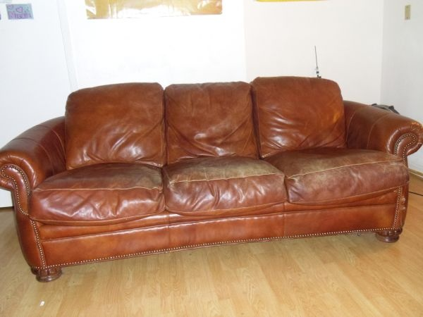 Comfortable Authentic Leather Couch