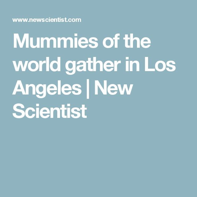 Mummies of the world gather in Los Angeles | New Scientist