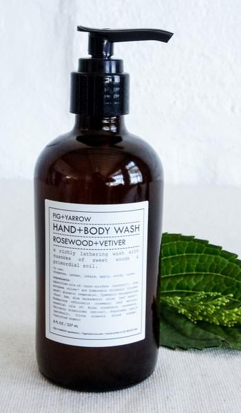 Fig and Yarrow Rosewood and Vetiver Hand and Body Wash
