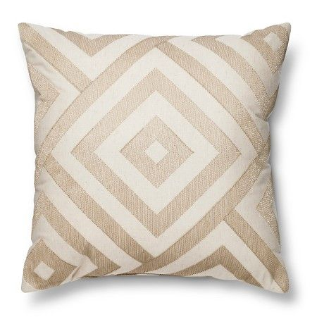 "~ 18""? Metallic Diamond Neutral Throw Pillow Gold - Threshold™ : Target (unavailable..)"