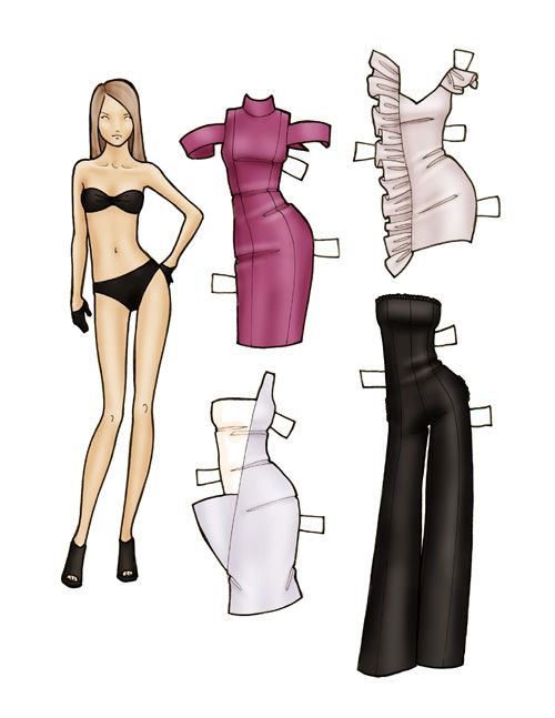 Best Woman Only Paper Dolls  Images On   Paper