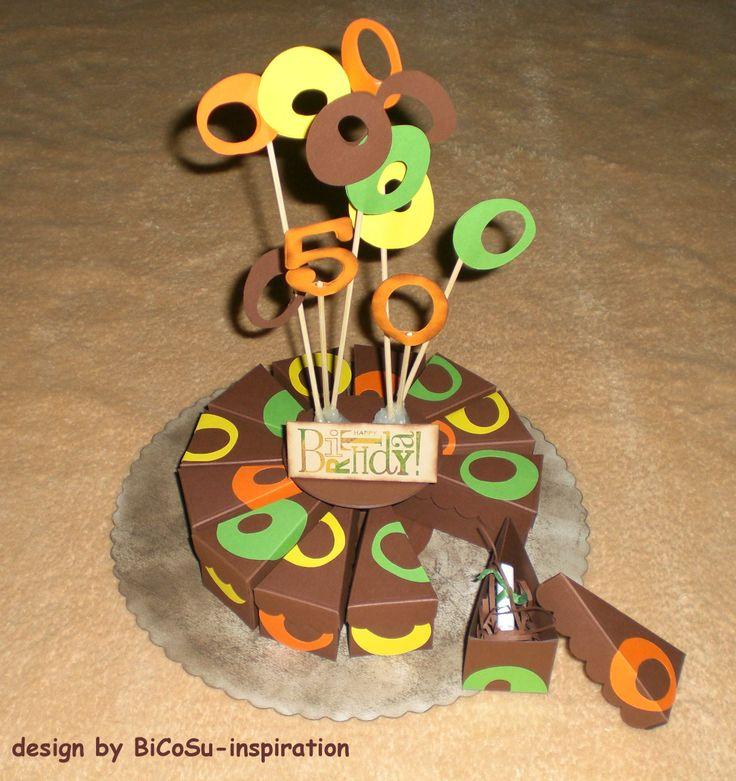 Hippie Papier Geburtstagstorte - Papiertorte / hippie Birthday Paper Cake - Papercake