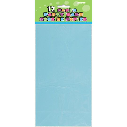 <div>Brighten up your party favors with these Baby Blue Paper Party Bags. These paper party bags...