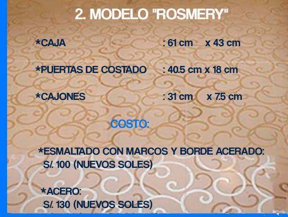 "GABINETE PARA BAÑO 2. MODELO ""ROSMERY"""