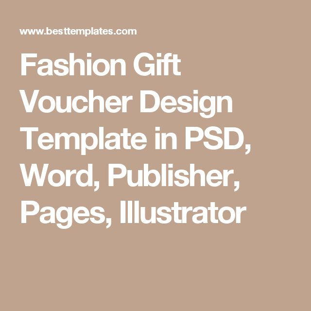 Fashion Gift Voucher Design Template in PSD, Word, Publisher, Pages, Illustrator
