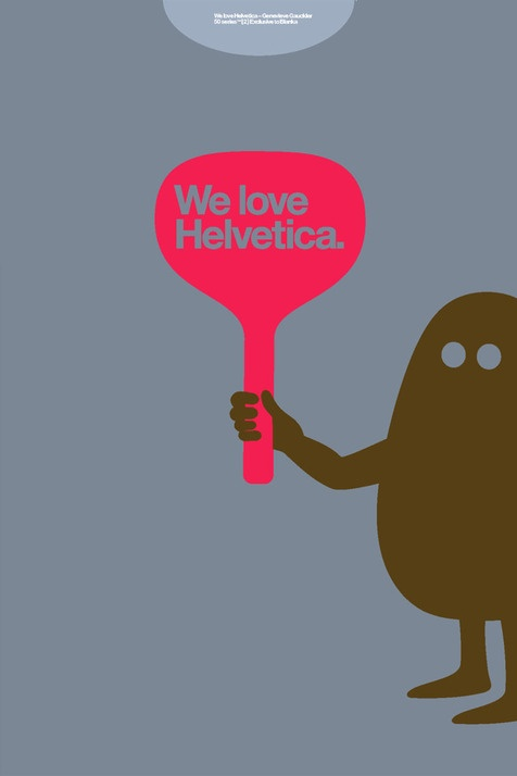 We love helvetica - Awesome T-Shirts at Rumplo