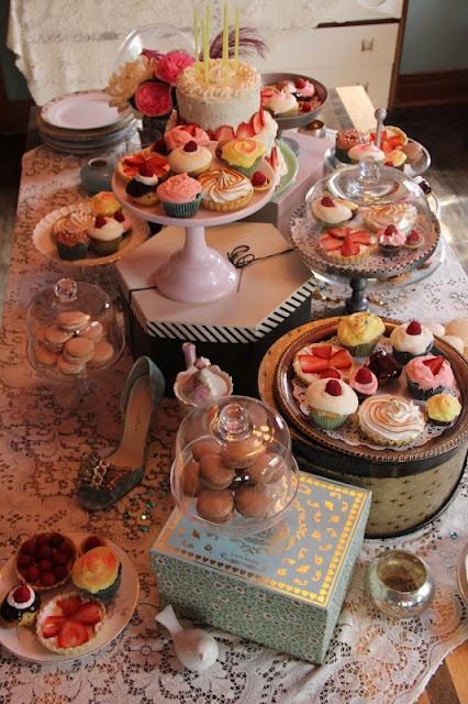 My Marie Antoinette Birthday Treat Table Baking